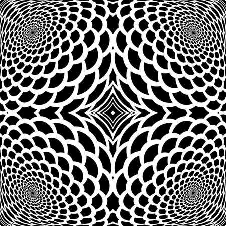 snakeskin: Monochrome abstract snakeskin background in op art design. Vector-art illustration