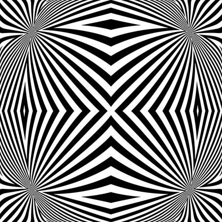 torsion: Design monochrome convex lines background. Abstract stripe torsion backdrop. Vector-art illustration