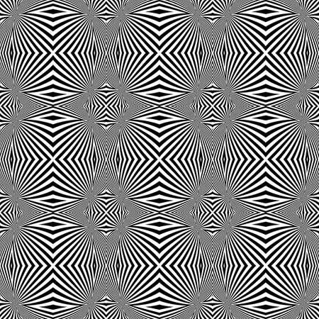 torsion: Design seamless monochrome convex lines background. Abstract stripe torsion background. Vector art Illustration