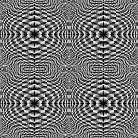 checkered volume: Design seamless monochrome illusion checkered pattern Illustration