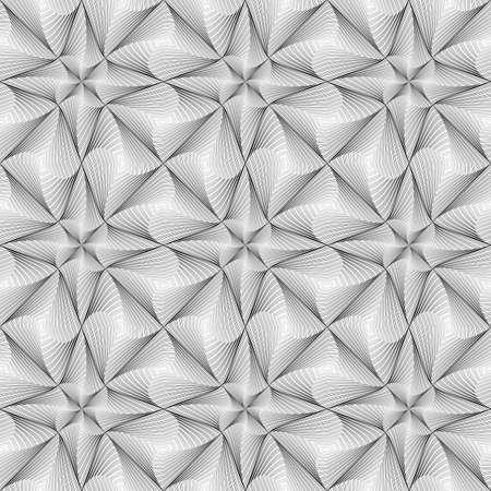 Design seamless twirl movement striped geometric pattern Illustration