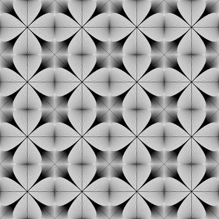 interlace: Design seamless monochrome pattern Illustration