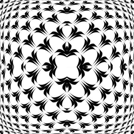 convex: Design warped convex monochrome pattern. Abstract geometrical background. Vector art