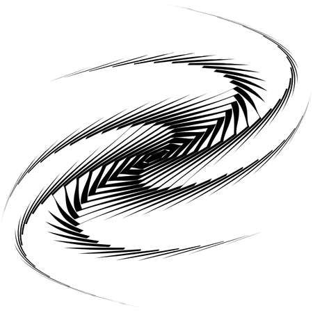 Design monochrome whirl movement octopus background. Abstract lines torsion backdrop. Decoration element. Vector-art illustration Vector