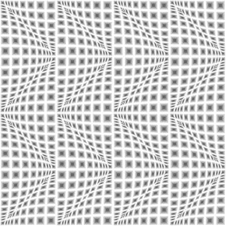 convex: Design seamless monochrome warped zigzag pattern. Abstract convex textured background. Vector art. No gradient