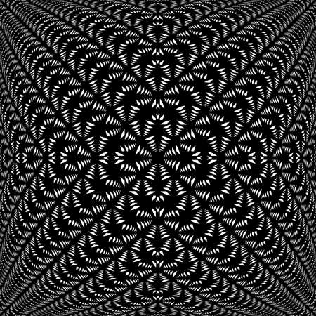 deform: Design symmetric lacy diagonal warped pattern. Abstract textile textured background. Vector-art illustration. No gradient Illustration