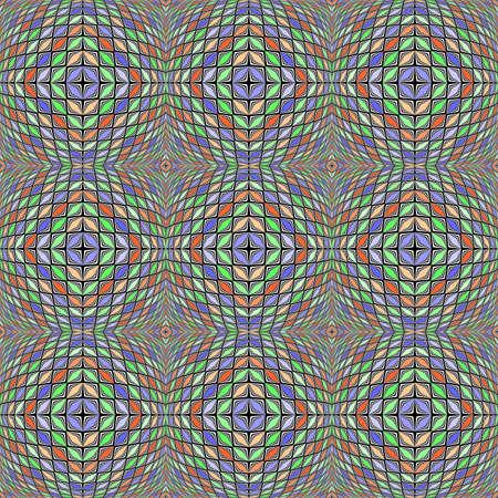 warped: Design seamless warped diamond geometric pattern.  Illustration