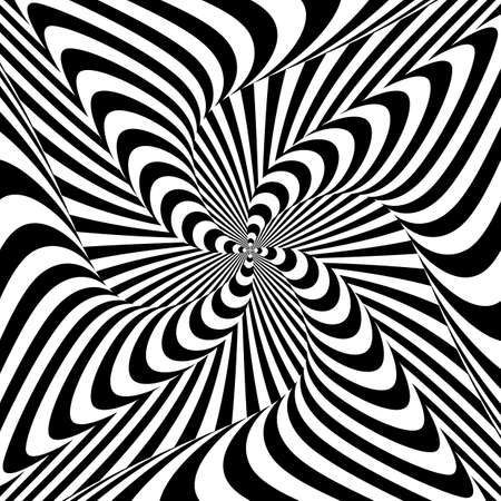 distortion: Design monochrome whirlpool motion illusion background. Abstract strip distortion backdrop. Vector-art illustration Illustration