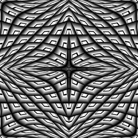 parallelogram: Dise�o monocrom�tico deformado patr�n de cuadr�cula. Resumen de celos�a textura de fondo. Ilustraci�n vectorial de �ltima generaci�n. No degradado