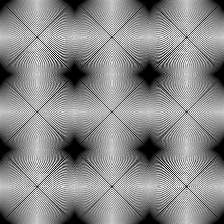 no gradient: Design seamless monochrome pattern. Abstract lines textured background. Vector art. No gradient Illustration