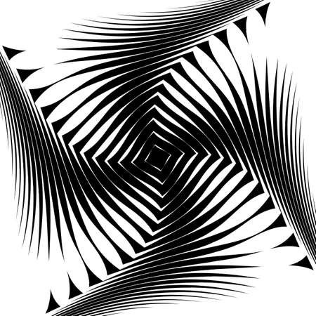 no movement: Design monochrome whirl movement background. Abstract lines torsion backdrop. Decoration element. Vector-art illustration. No gradient