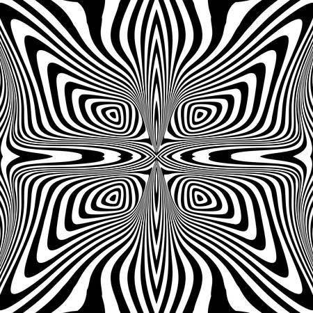 torsion: Design monochrome swirl movement illusion background. Abstract stripe torsion backdrop. Vector-art illustration Illustration
