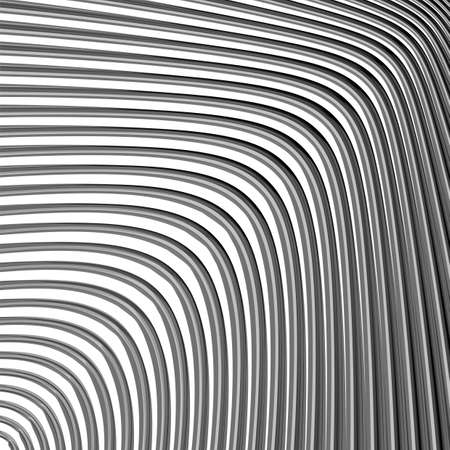 volumetric: Design monochrome movement illusion background. Abstract striped lines distortion backdrop. Vector-art illustration. EPS10