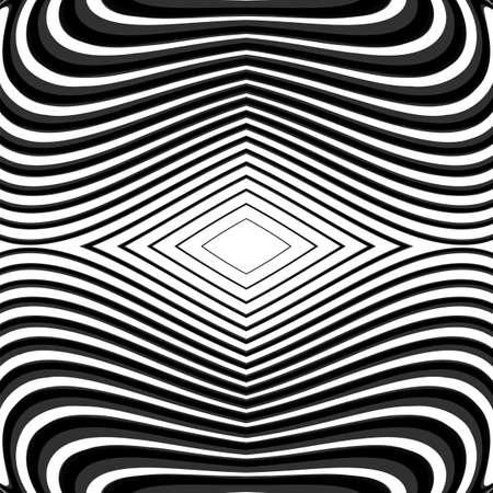 no lines: Design monochrome waving lines background. Abstract textured backdrop. Vector-art illustration. No gradient. EPS10