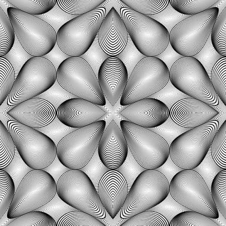 salient: Design seamless monochrome pattern. Abstract grid textured background. Vector art. No gradient Illustration