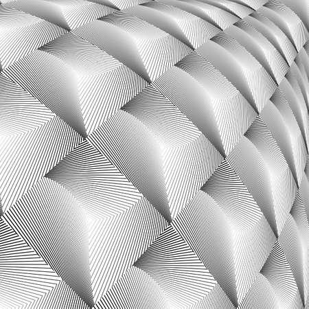 convex: Design diamond convex texture. Abstract geometric monochrome perspective background. Vector art. No gradient Illustration