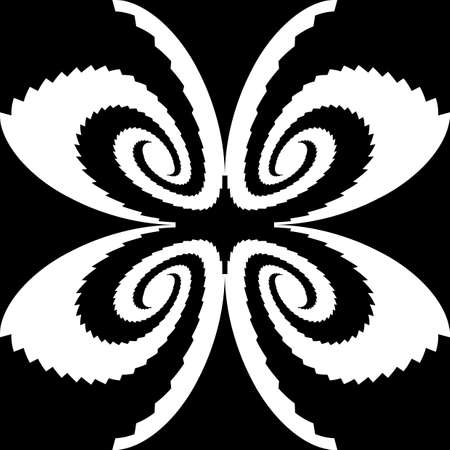 symmetric: Design monochrome decorative butterfly silhouette. Abstract symmetric backdrop. Vector-art illustration Illustration