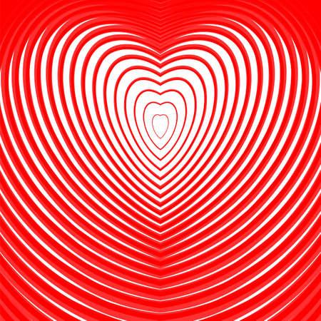 torsion: Design heart twisting movement illusion background. Abstract strip torsion backdrop. Vector-art illustration. EPS10 Illustration