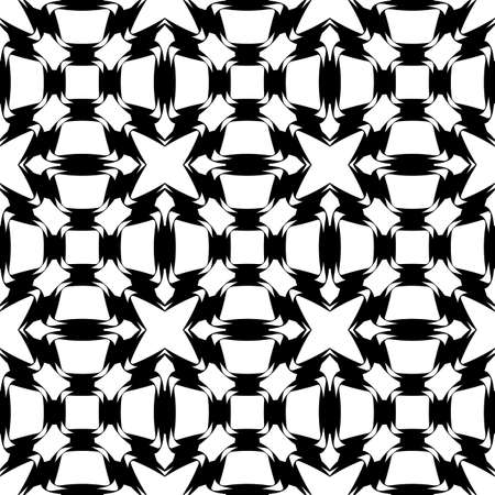 grid pattern: Design seamless monochrome grid pattern. Abstract geometric lattice background. Vector art Illustration