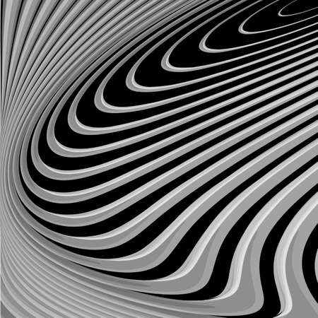 parallel: Design monochrome parallel waving lines background. Abstract textured backdrop. Vector-art illustration. EPS10