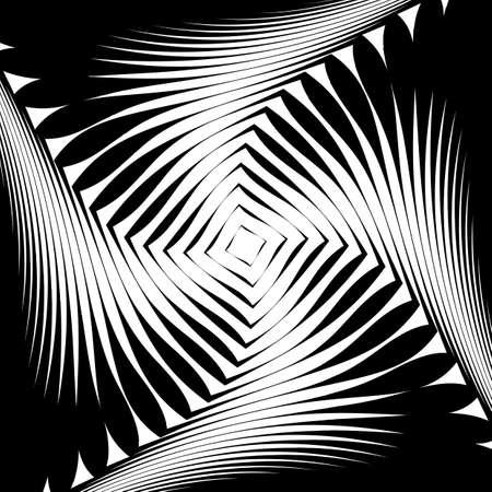no lines: Design monochrome whirl movement background. Abstract lines torsion backdrop. Decoration element. Vector-art illustration. No gradient