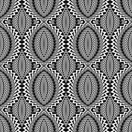 ellipse: Design seamless monochrome ellipse pattern. Abstract warped textured background. Vector art. No gradient Illustration