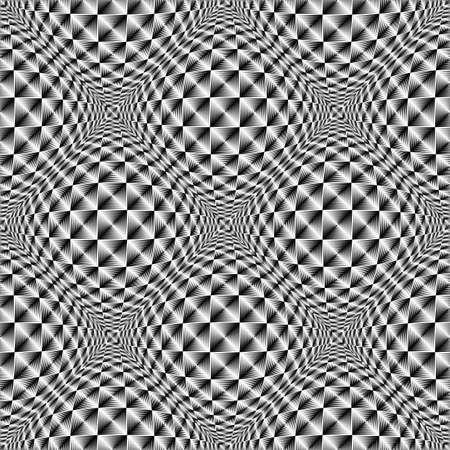 volumetric: Design seamless square volumetric pattern. Abstract geometric monochrome background. Vector art. No gradient