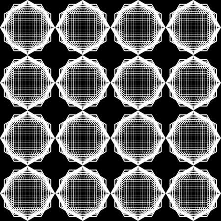 web2: Design seamless monochrome geometric pattern. Abstract grid textured background. Vector art. No gradient