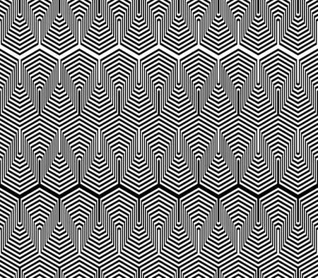 zigzag: Design seamless monochrome zigzag geometric pattern. Abstract striped background. Vector art