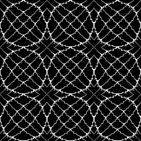 deform: Design seamless monochrome pattern. Abstract grid textured background. Vector art Illustration
