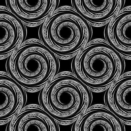 no movement: Design seamless monochrome spiral movement background. Abstract textured pattern. Vector art. No gradient