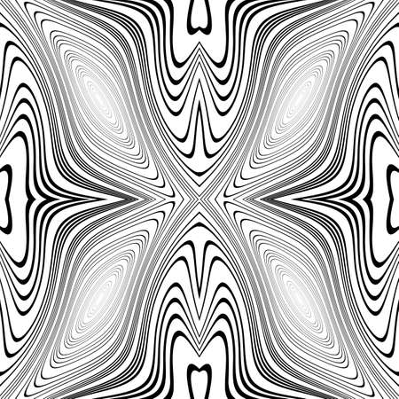 no movement: Design monochrome whirl movement background. Abstract stripy warped twisted backdrop. Vector-art illustration. No gradient