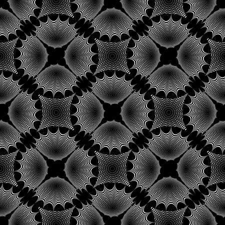 web2: Design seamless monochrome geometric pattern. Diagonal textured background. Vector art. No gradient