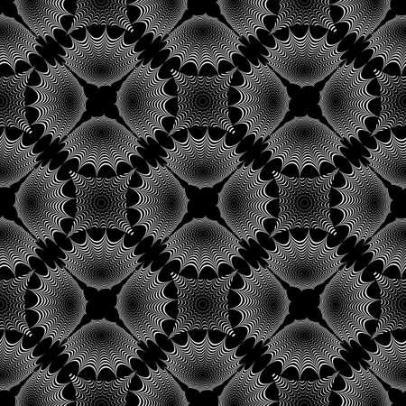 no gradient: Design seamless monochrome geometric pattern. Diagonal textured background. Vector art. No gradient