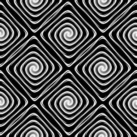 Design seamless monochrome labyrinth pattern. Abstract geometric background. Vector art