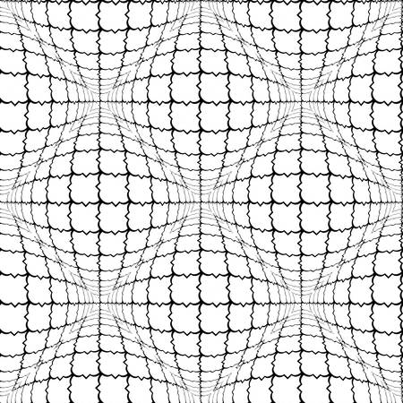volumetric: Design seamless monochrome convex pattern. Abstract grid textured background. Vector art Illustration