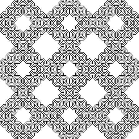 Design seamless monochrome zigzag geometric pattern. Abstract grid background. Vector art