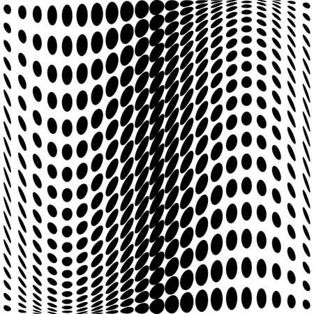 no gradient: Design monochrome dots background. Abstract waving backdrop. Vector-art illustration. No gradient Illustration
