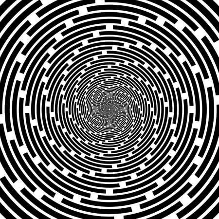 espiral: Dise�o espiral tel�n de fondo de rayas. Fondo monocromo abstracta. Vector-ilustraci�n del arte