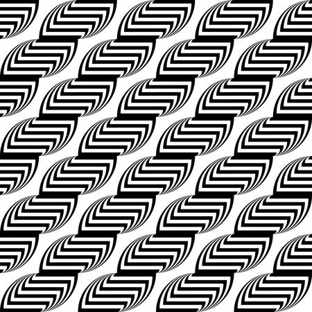 strip design: Design seamless monochrome waving geometric pattern. Abstract stripy background. Vector art