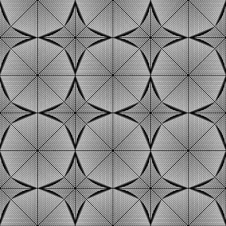 octagon: Design seamless monochrome octagon pattern. Abstract grid textured background. Vector art. No gradient