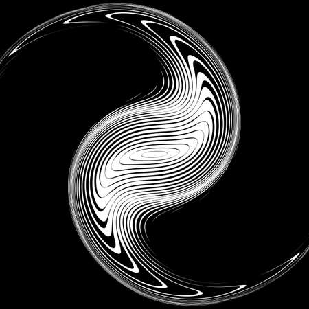 no movement: Design monochrome whirlpool movement background. Abstract warp backdrop. Decor element. Vector-art illustration. No gradient