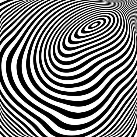 elipse: Dise�o blanco y negro de fondo movimiento elipse ilusi�n. Textura abstracta de torsi�n de la raya. Vector-ilustraci�n del arte Vectores