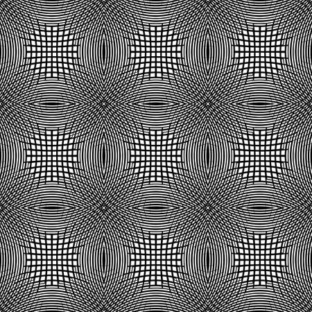 Design seamless monochrome square geometric pattern. Abstract grid textured background. Vector art. No gradient Vector