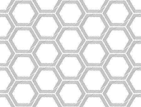 web2: Design seamless monochrome hexagon geometric pattern. Abstract doodle background. Vector art. No gradient