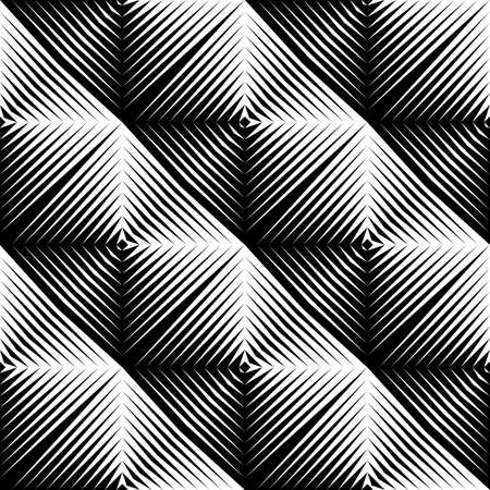 Design seamless square convex pattern. Abstract geometric monochrome background. Vector art. No gradient