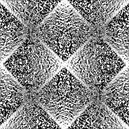 Design seamless monochrome geometric pattern. Abstract diamond textured background. Vector art. No gradient