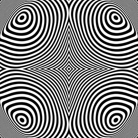 elipse: Dise�o blanco y negro de fondo movimiento elipse ilusi�n. Vectores