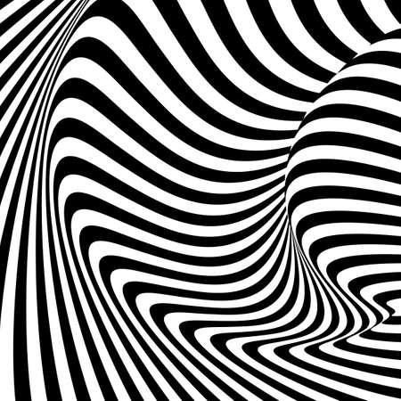 movement: Design monochrome movement illusion background.  Illustration