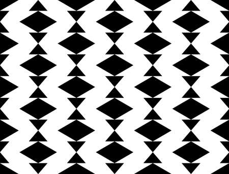 web2: Design seamless monochrome geometric pattern. Abstract background. Vector art